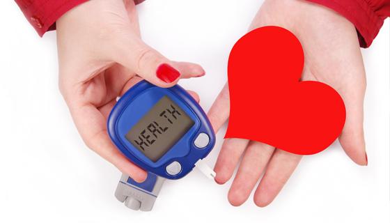 сердце и глюкометр