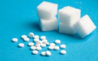 Рафинад и таблетки