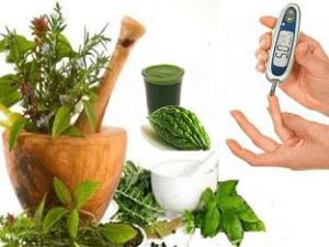 травы и глюкометр