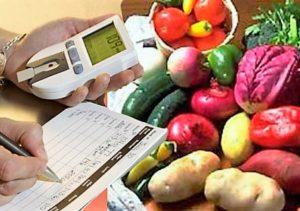 овощи и глюкометр