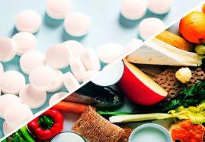 таблетки и продукты