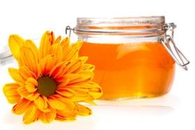 мед и цветки календулы