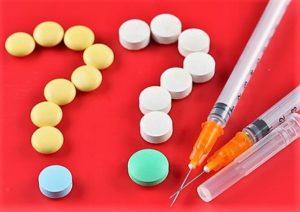 таблетки и шприцы