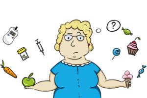 женщина с яблоком и мороженым
