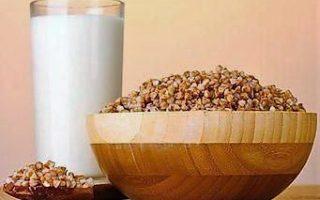 гречневая крупа и молоко