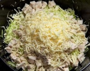 сыр, капуста и курица